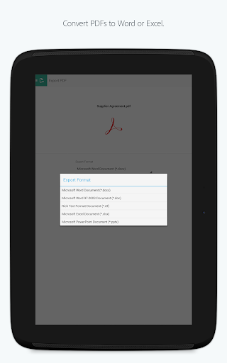 Adobe Acrobat Reader app (apk) free download for Android/PC/Windows screenshot
