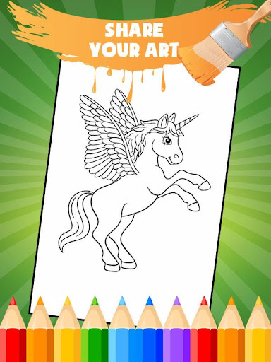 Unicorn Coloring Book: Kids Coloring Pages 3.0.1 screenshots 3