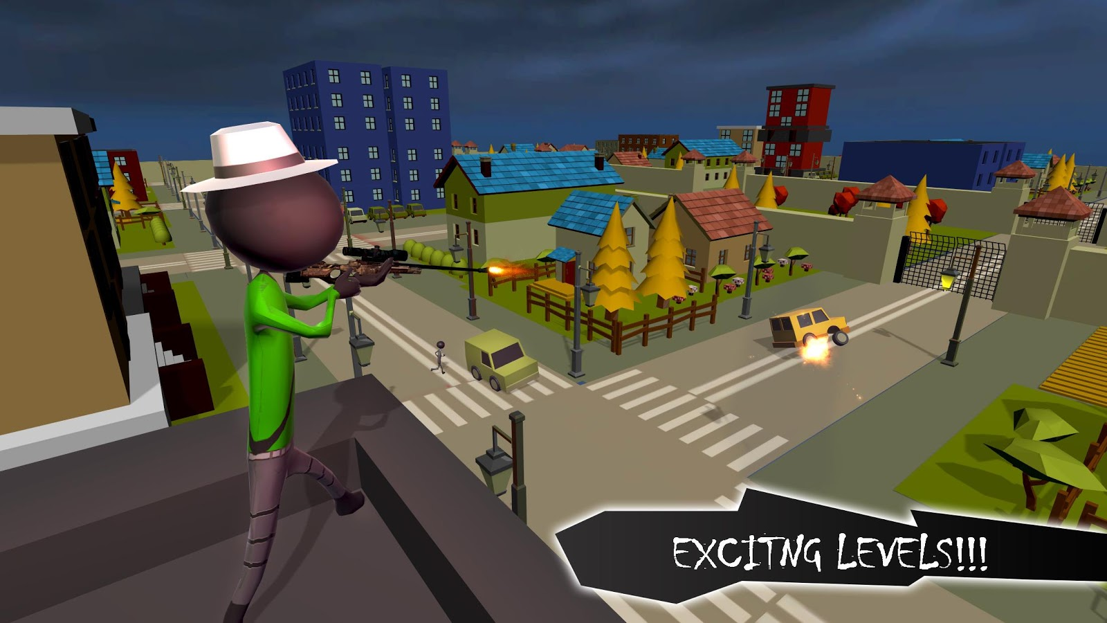Stickman Crime City Escape- screenshot