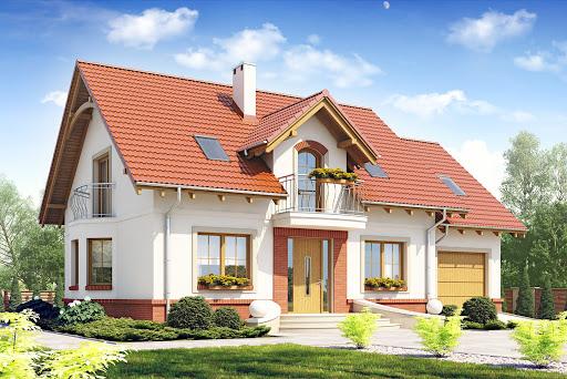 projekt Dom Dla Ciebie 1 z garażem 1-st. A