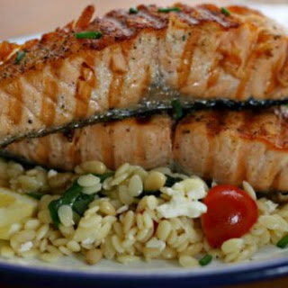 Curtis Stone's Grilled Salmon with Orzo Salad {IHCC}.