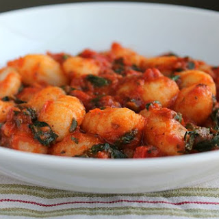 Spinach and Red Pepper Gnocchi