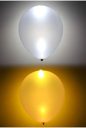 LED-ballong, guld/silver 5st