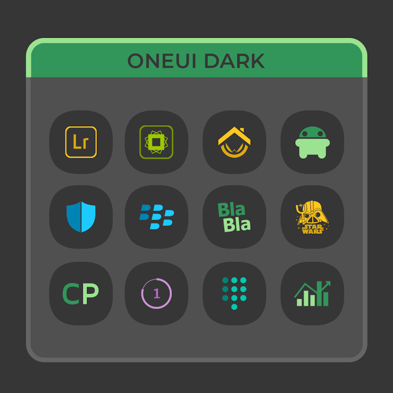 OneUI Dark- Icon Pack Screenshot 1