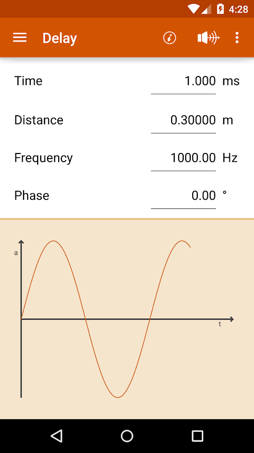 AudioCalc- screenshot