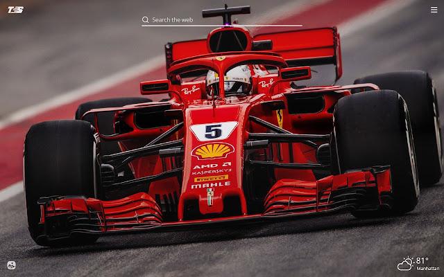 Ferrari Scuderia HD Wallpaper New Tab