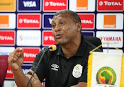Coach Ricardo Mannetti addresses the media during the 2019 Africa Cup of Nations Finals Namibia Press Conference at the Al Salam Stadium, Cairo, Egypt on 27 June 2019.