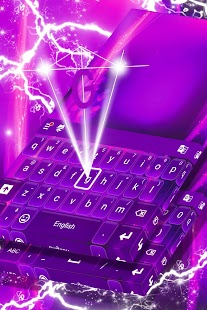 Purple Glow Keyboard Theme - náhled
