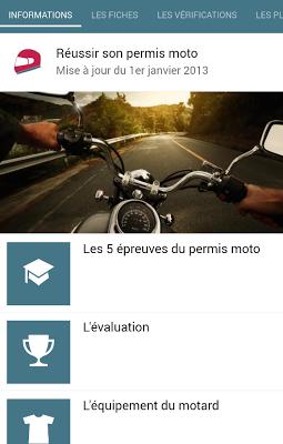 Réussir son permis moto - screenshot