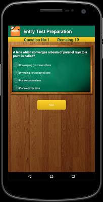 Entry Test Preparation - screenshot