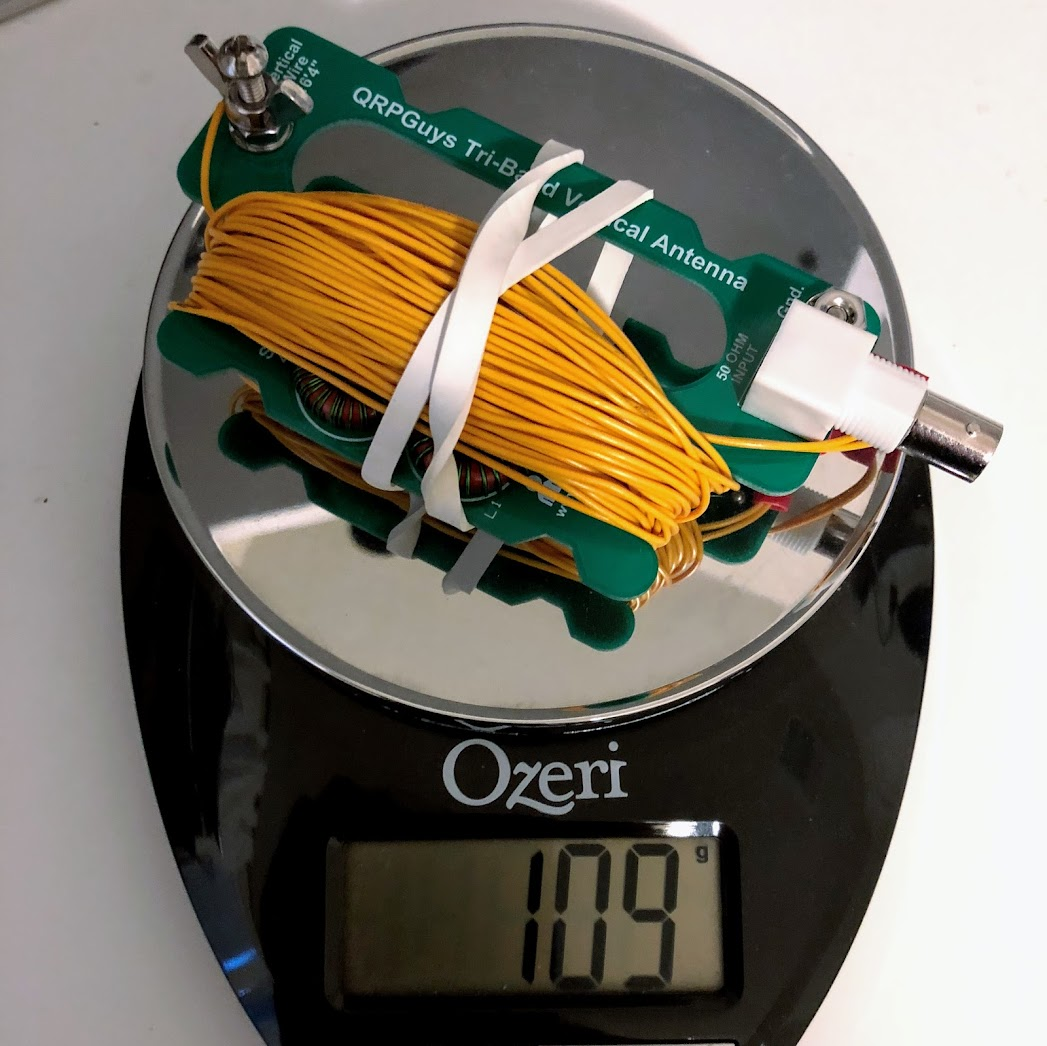 New Equipment - QRPGuys Portable Tri-Band Vertical Antenna - KE6MT