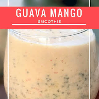 Guava Mango Smoothie.
