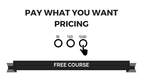 Pay What You Want Pricing course