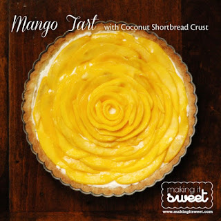 Mango Tart with Coconut Shortbread Crust