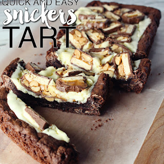 Quick and Easy SNICKERS® Tart.