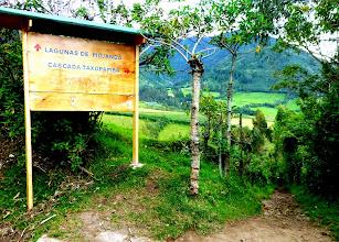 Photo: Start of the path to the Taxopamba waterfall