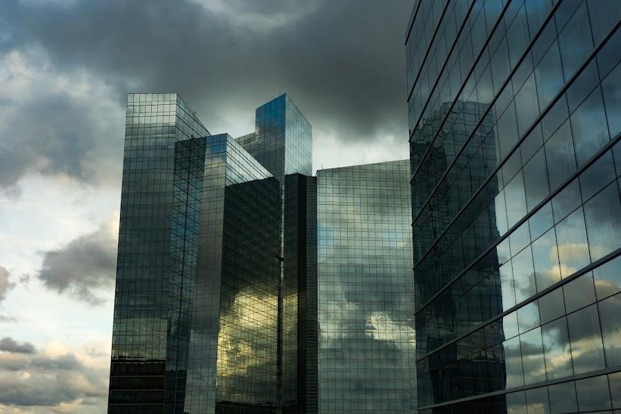 Futuristic Architecture by VAM Photography - Buildings & Architecture Office Buildings & Hotels ( reflection, sky, futurisitic, glass, architecture,  )