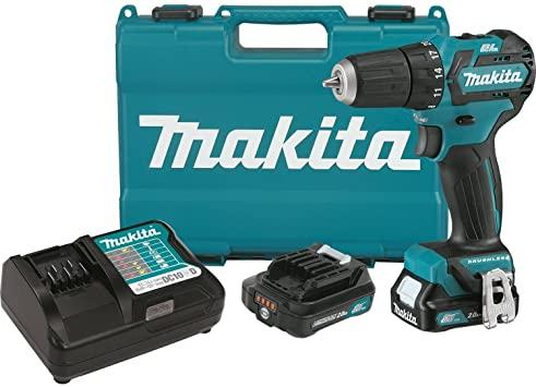 Makita FD07R1 12V MAX CXT Lithium-Ion Brushless Cordless Driver-Drill Kit, 3/8""