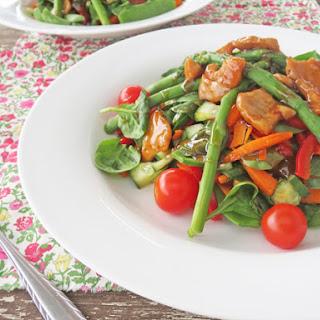 Asian Sticky Pork Salad