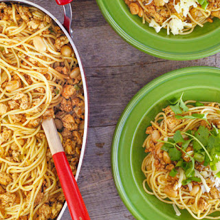 Chicken Chili Cowboy Spaghetti