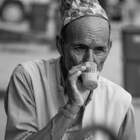 Early Morning Tea by Naveen Rai - People Street & Candids ( old, age, street, candid, people, portrait, nepal )