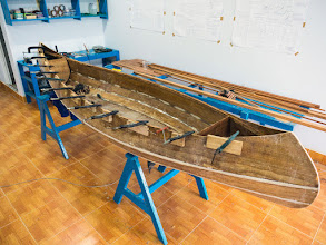 Photo: it's very interesting to see the canoe take shape, day by day