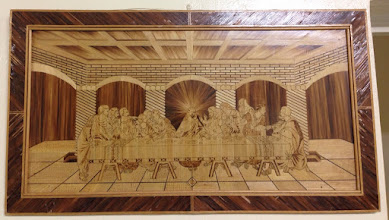 Photo: Day 12: Wood engraving of the Last Supper