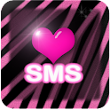 Pink zebra wallpaper SMS theme icon