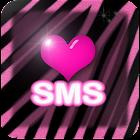 Pink zebra wallpaper SMS theme icon