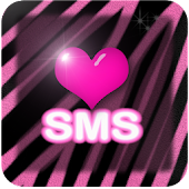 Pink zebra wallpaper SMS theme