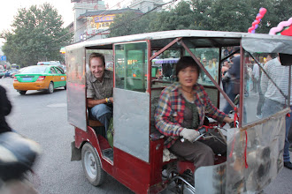 Photo: Day 188 -  Our First Pedicab Ride from  Big Goose Pagoda to Xi'an Station