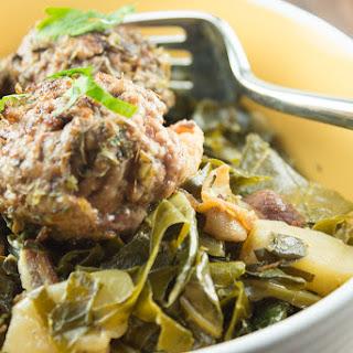 Paleo Italian Meatballs and Braised Greens Recipe