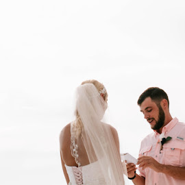 His Vows by Autumn Wright - Wedding Ceremony ( bride, vows, groom, ceremony, beach, wedding )