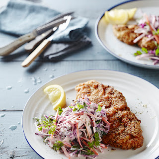 Chicken Schnitzel with Slaw