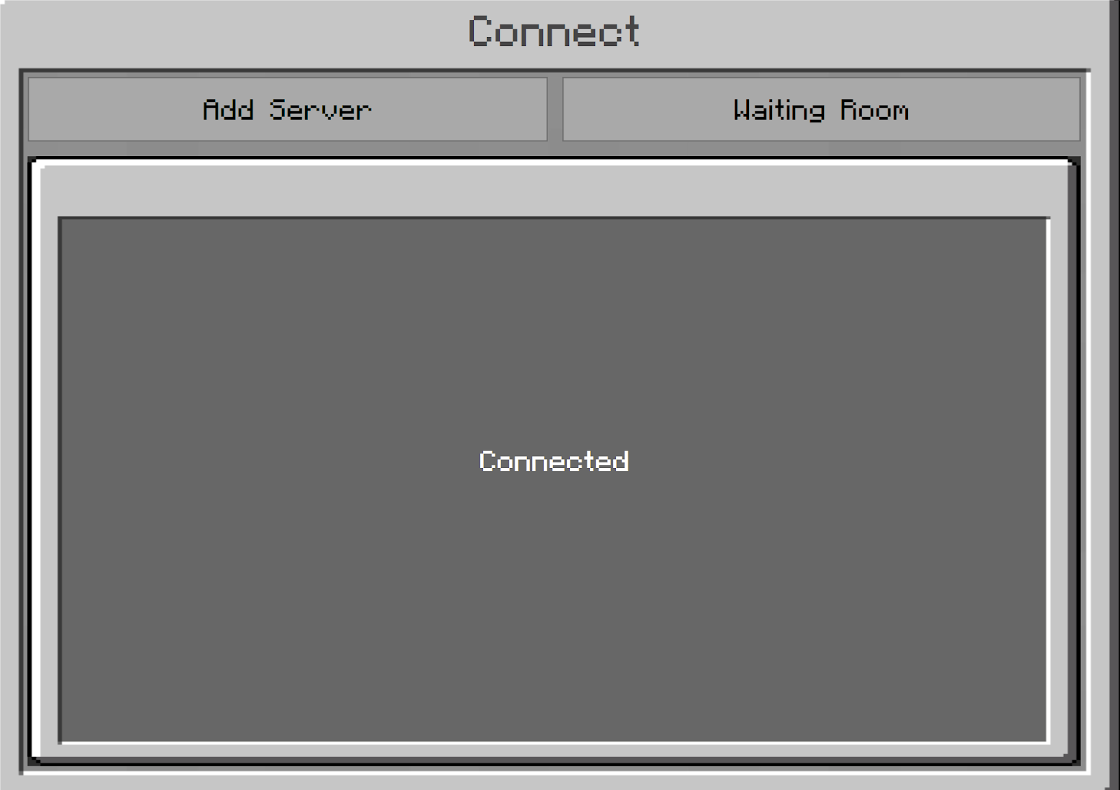 fidd Server  Connect  Waiting Room  Connected