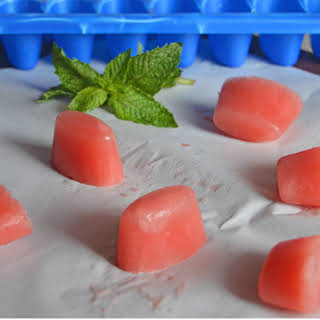Watermelon Lime Ice Cubes.