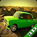 Russian Rally Lada 3D icon