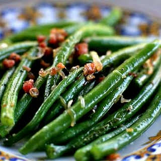 Green Beans with Shallots and Pancetta.