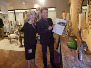 Photo: Donny and Debbie Osmond, reading the Home Accents Today story that resulted from my December interview.