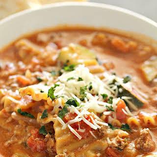 Ground Turkey Sausage Lasagna Soup.