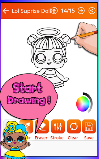 How to draw Lol doll surprise (Lol surprise game) for PC