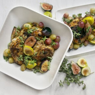 Maple + Mustard Chicken with Roasted Figs