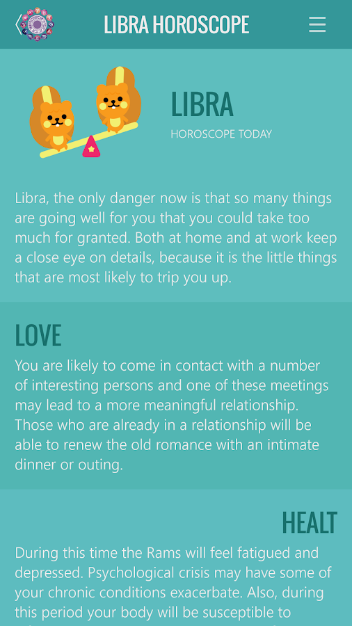 Libra Horoscope- screenshot
