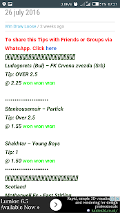 Betting Tips- screenshot thumbnail