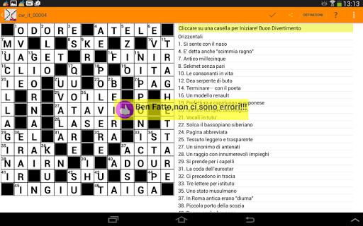 Cruciverba in Italiano gratis 3.7.6 screenshots 10
