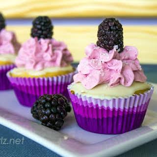 Blackberry White Chocolate Cupcakes.