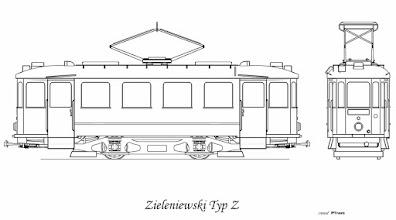 Photo: Wygląd zewnętrzny tych wagonów był identyczny co dostarczone wcześniej Ringhoffery. W 1929 roku zamówiono 20 sztuk w fabryce Zieleniewskiego. Ciężar tych wagonów wynosił 12073 kg, wyposażone były w aparaturę Brown-Boveri , silniki o mocy 34,5kW, nastawniki BBC-PN oraz wyłączniki nadmiarowe 300A. W 1929 roku uruchomiono 15 wagonów, ponieważ pozostałe nie miały aparatury elektrycznej. Uruchomiono je dopiero w 1930 roku. W czasie wojny zniszczono tylko jeden z nich. Po wojnie oznaczono je jako Z.