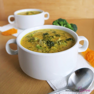 Quick Broccoli Cheddar Soup (Low Carb, Gluten-free).