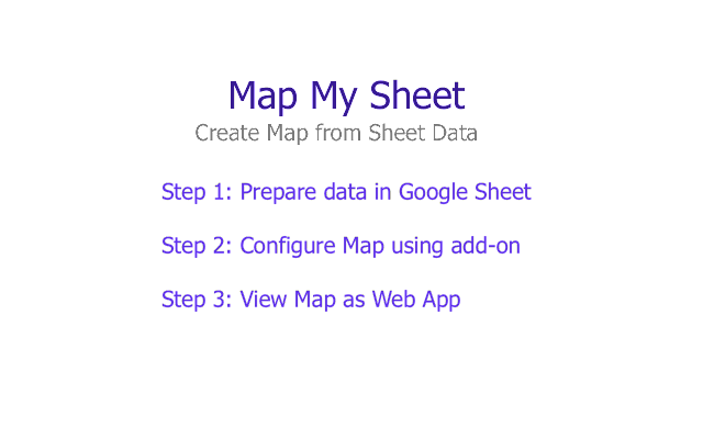 Map My Sheet G Suite Marketplace - Map my data