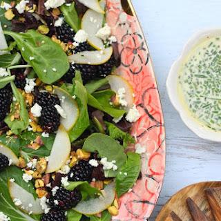 Pear and Blackberry Salad with Creamy Lemon Poppyseed Vinaigrette
